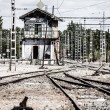 Abstract view of railroad turnout — Stock Photo