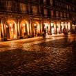 Plaza Mayor of Madrid at night, Spain — Stock Photo