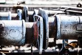 Abstraktní pohled na železničních výhybek — Stock fotografie