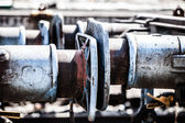 Ver resumen de desvío del ferrocarril — Foto de Stock