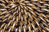 Detail of interlaced rattan fibers in macro — Stock Photo