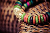 Close up view of colorful bracelet — Stock Photo