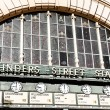 Flinders Street Station The entrance to Flinders Street Station. Australia, Melbourne. — Stock Photo