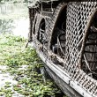 Stock Photo: House boat in backwater in alappuzha, Kerala, India