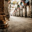 Details of Meenakshi Temple - one of the biggest and oldest temple in Madurai, India. - Stock Photo