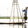 Fisherman in inle lake, Myanmar. — Stock Photo #19034603