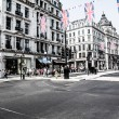 Regent Street is one of the major shopping streets in Europe — Stock Photo