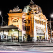 Flinder street station in Melbourne Australia at night — Stock Photo #19036141
