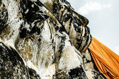 Liggande buddha vid wat lokayasutharam, ayutthaya, thailand — Stockfoto