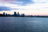 Perth Skyline from Swan River — Stock Photo