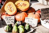 Pumpkins for sale at local Salamanca market, Hobart, Australia — Stock Photo