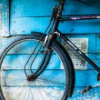 Vintage bicycle  in India - Stock Photo