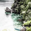 Tropical lagoon on the way to Kayangan lake. Coron island — Stock Photo
