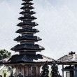 Beautiful Pura Taman Ayun Bali temple build in traditional architecture style — Stock Photo