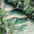 Beautiful arial view of turquoise waterfalls Semuc Champey in guatemala — Stock Photo #19452057