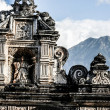Typical architecture in Antigua Guatemala - Zdjęcie stockowe