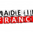 3D Made in France button over white background — Stock Photo #19466457