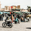 Traditional view on Marrakesh in Morocco — Stock Photo
