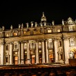 Night shot of Saint Peters basilica, Roma, Italy — Stock Photo #19696455