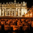 Night shot of Saint Peters basilica, Roma, Italy — Stock Photo #19696463