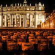 Stock Photo: Night shot of Saint Peters basilica, Roma, Italy