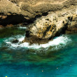 Green and blue ocean water of Tenerife coast, Canary Islands - Stockfoto