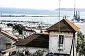Tangier port view. City located northern of Morocco — Stock Photo