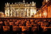 Night shot of Saint Peters basilica, Roma, Italy — Stock Photo