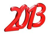 3D Year 2013 on white background — Stock Photo