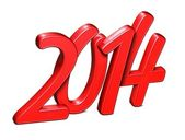 3D Year 2014 on white background — Stock Photo