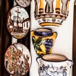 Cordoba, Spain - outdoor detail, decorative hand painted Andalusian china — Stock Photo