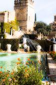Gardens at the Alcazar de los Reyes Cristianos in Cordoba, Spain — Stock Photo