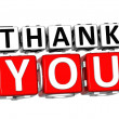 3D Thank You Button Click Here Block Text - 图库照片