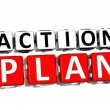 3D Action Plan Button Click Here Block Text — Stock Photo #21463087