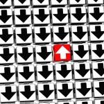 3D tecken pil inuti pilen block — Stockfoto