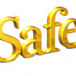 3D Word Safe on white background — Stock Photo