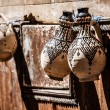 Teapot, tadjin, vase and other products of the Moroccan potter's factories — Stock Photo