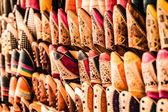 Multicoloured Moroccan slippers, Marrakesh — Stock Photo
