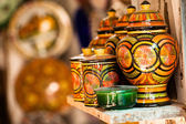 Traditional moroccan earthenware at local street — Stock Photo