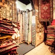 Stock Photo: Bright paints of Moroccand berber carpets