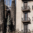 Sagrada Familia by Antoni Gaudi in Barcelona Spain - Стоковая фотография