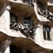 BARCELONA, SPAIN - APRIL 13: Casa Mila (La Pedrera) on April, 13 2013 in Barcelona, Spain. This famous building was designed by Antoni Gaudi. - Stock Photo