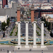 Panoramic View of Barcelona, Spain. — Stockfoto
