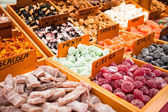 Sweets at the market in Barcelona — Stock Photo