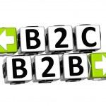 3D B2B B2C Button Click Here Block Text — Stock Photo #24560683