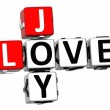 3D Joy Love Crossword — Stock Photo