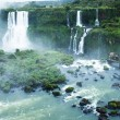 Iguassu Falls, the largest series of waterfalls of the world, located at the Brazilian and Argentinian border, View from Brazilian side — Stock Photo #26776511