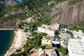 The cable car to Sugar Loaf in Rio de Janeiro, Brazil. — Stock fotografie