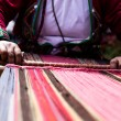 Traditional hand weaving in the Andes Mountains, Peru — ストック写真