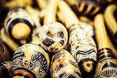 Handmade peruvian maracas in local market — Stock Photo